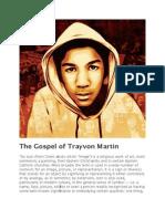 The Gospel of Trayvon Martin