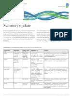 Latest Amendments Statutory Update From DNV June 2013 - 2014