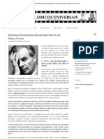 Admirável Mundo Novo (Brave New World), de Aldous Huxley _ Clássicos Universais