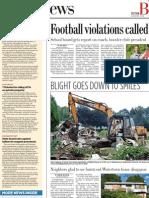 Football Violations Called