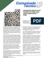 Comoposição quimica de 45 genotipos de feijão