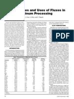 Propiedades y Usos de Fluxes en Aluminio