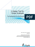 A Design Tool for Timber Gridshell