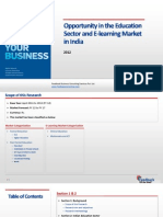 Opportunity in the Education Sector and E-Learning Market in India_Feedback OTS_2012