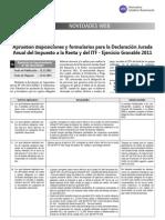 Declaracion Jurada Anual 2011