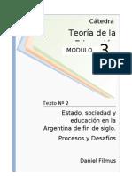 - Filmus - Estado Sociedad y Educacion en La Argentina