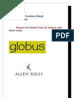 Fashion Retail Merchandising Retail Visit Report