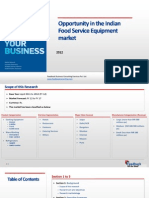 Opportunity in the Indian Food Service Equipment Market_Feedback OTS_2012