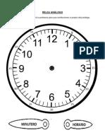 Reloj Analogo Para Armar
