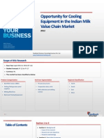 Opportunity of Cooling Equipments in the Indian Milk Value Chain Market_Feedback OTS_TOC_2012