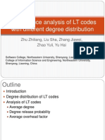 Performance Analysis of LT Codes With Different Degree
