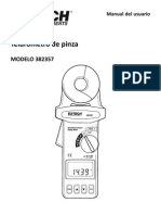 Manual de Telurometro Extech