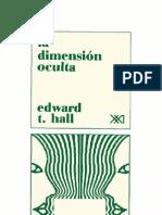 La Dimension Oculta Edward T Hall