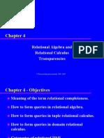 2166197 Relational Algebra and Relational Calculus