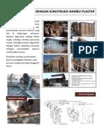 Shelter Dengan Konstruksi Bambu Plaster