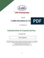 Conflict Resolution in Cambodia