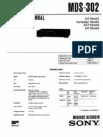 Sony MDS-302 Service Manual
