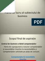 Planul de Lucru Al Subiectului de Business