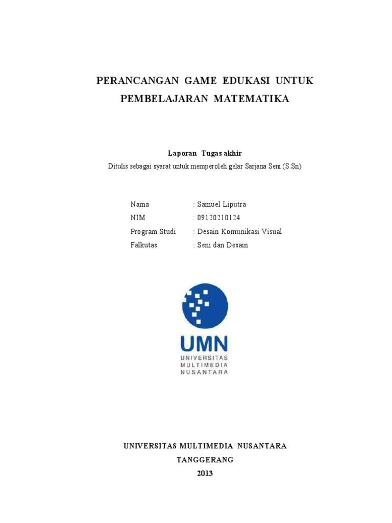 Perancangan Game Edukasi Untuk Pembelajaran Matematika