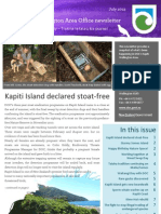 Department of Conservation Kapiti Wellington newsletter July 2013