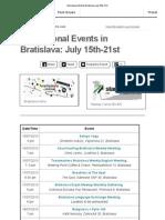 International Events Bratislava July 15th-21st