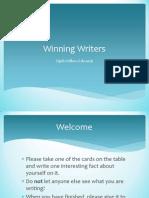 monday  winning writers  slides