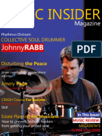 Johnny Rabb - Rhythmus Divinim - June 2013 Cover Article and Interview for Music Insider Magazine