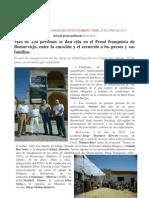 Más de 230 personas se dan cita en el Penal franquista de Bustarviejo, entre la emoción y el recuerdo a los presos y sus familias.