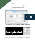 Text Efect Pixelat