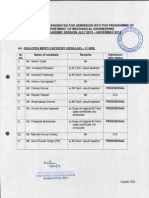 PhD Selection List - Mechanical Eng