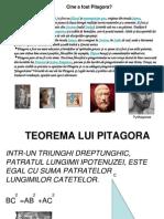 Demonstratii Ale Teoremei lui  Pitagora