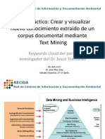 Keywords cloud del perfil investigador del Dr. Jesús Tramullas