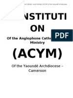Constitution of the Anglophone Catholic Youth Ministry 1