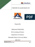 Shahid ABL Internship Report-final