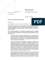 EGY - IOC-ASOIF Letter to Sports Ministry - 15 July 2013x
