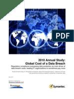 Symantec Cost of Data Breach Global 2010