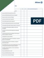 Appendix 2 - Fire Risk Assessment Checklist