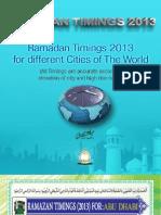 Ramazan Timings 2013