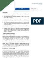 WPI Inflation Update, June 2013