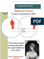 Bilancio Di Genere, Conto Consuntivo 2011