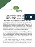 Chamamento de CxG a umha moção de censura contra Feijoo (15/07/2013)