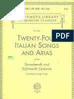 Twenty -Four Italian Songs & Arias