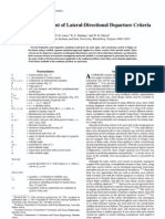 Unified Development of Lateral Directional Departure Criteria