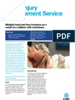 Mims Multiple Head and Face Fractures as a Result of a Collision With Machinery