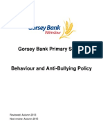 Behaviour & Anti-Bullying Policy 2013