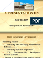 UNIT III Business Idea