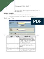 FD01, FD02 e FD03 - Criar, Modificar e Exibir Cliente