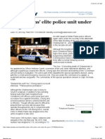White Plains elite police unit under the gun