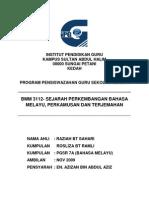Sejarah Perkembangan Perkamusan Di Malaysia (Raziah & Rosliza)