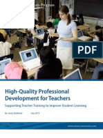 High-Quality Professional Development for Teachers